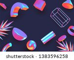 objects 3d shape vector minimal ... | Shutterstock .eps vector #1383596258