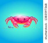 cute sea crab in bright cartoon ...   Shutterstock .eps vector #1383597368