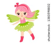 fairy is standing on a white... | Shutterstock .eps vector #1383598832