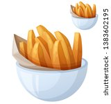sweet potato fries. detailed... | Shutterstock . vector #1383602195
