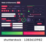 big  huge  enhanced ui kit for... | Shutterstock .eps vector #1383610982