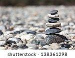 Zen Balanced Stones Stack Clos...
