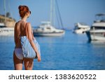 girl at the seaside. adriatic ... | Shutterstock . vector #1383620522