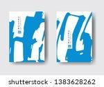 cool vector bright poster set... | Shutterstock .eps vector #1383628262