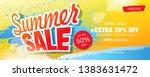 summer sale banner layout... | Shutterstock .eps vector #1383631472