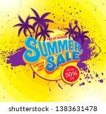 summer sale banner layout... | Shutterstock .eps vector #1383631478
