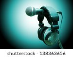 microphone and headphones.... | Shutterstock . vector #138363656