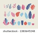 set of flat plants  vector... | Shutterstock .eps vector #1383645248