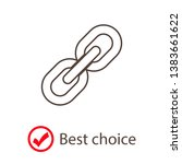 chain  link icon vector. link... | Shutterstock .eps vector #1383661622
