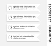white infographics banners. a... | Shutterstock .eps vector #1383663098