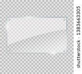vector illustration of glass or ... | Shutterstock .eps vector #1383663305
