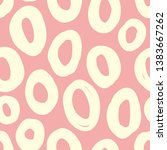 abstract pattern with ovals on... | Shutterstock .eps vector #1383667262