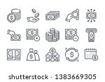 money related line icon set....