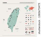 vector map of taiwan. high... | Shutterstock .eps vector #1383673475
