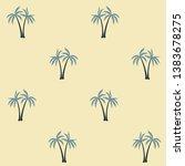 coconut palm tree pattern... | Shutterstock .eps vector #1383678275