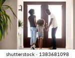 happy young african american... | Shutterstock . vector #1383681098