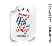 4th of july background.... | Shutterstock . vector #1383694028