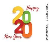 happy new year 2020. abstract... | Shutterstock . vector #1383694052