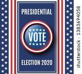 american presidential election... | Shutterstock . vector #1383694058
