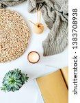 boho style modern minimal home... | Shutterstock . vector #1383708938
