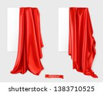 red curtain vectorized image.... | Shutterstock .eps vector #1383710525
