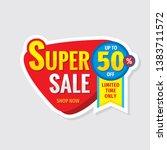 super sale concept banner.... | Shutterstock .eps vector #1383711572