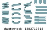 flat vector ribbons banners... | Shutterstock .eps vector #1383713918