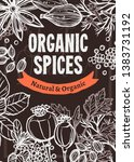 organic spices and herbs vector ... | Shutterstock .eps vector #1383731192