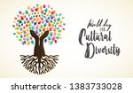 cultural diversity day card... | Shutterstock .eps vector #1383733028