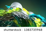 abstract glas background  3d... | Shutterstock . vector #1383735968