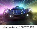sportscar with neon light... | Shutterstock . vector #1383739178
