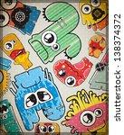 monsters   Shutterstock .eps vector #138374372