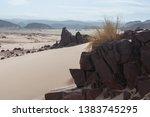 rocks in sinai desert. egypt ... | Shutterstock . vector #1383745295