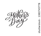 mothers day text modern... | Shutterstock .eps vector #1383745778