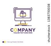company name logo design for 3d ... | Shutterstock .eps vector #1383750038