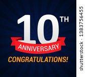 10 years anniversary...   Shutterstock .eps vector #1383756455
