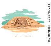the great temple at abu simbel  ... | Shutterstock .eps vector #1383757265