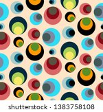 seamless repeating pattern of... | Shutterstock .eps vector #1383758108