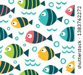 seamless pattern with fun... | Shutterstock .eps vector #1383762272