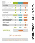 infographic temlate flat layout ... | Shutterstock .eps vector #1383765092