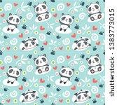 seamless pattern with cartoon... | Shutterstock .eps vector #1383773015
