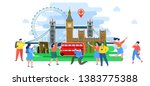 concept of travel to england or ... | Shutterstock .eps vector #1383775388