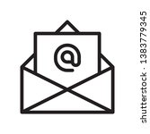 email icon in trendy outline...