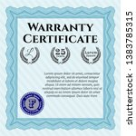 light blue retro warranty...   Shutterstock .eps vector #1383785315