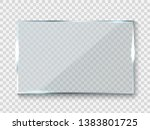 reflecting glass banner. gloss... | Shutterstock .eps vector #1383801725