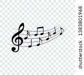 music notes  isolated  vector... | Shutterstock .eps vector #1383801968