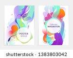 set of designs for flyer ...   Shutterstock .eps vector #1383803042