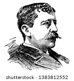 T. B. Aldrich, 1837-1907, he was an American writer, poet, critic, and editor, famous for his work in stories of bad boy, vintage line drawing or engraving illustration