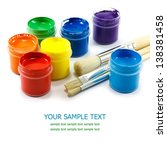 colorful paints and artist... | Shutterstock . vector #138381458