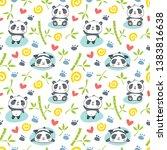 seamless pattern with cartoon... | Shutterstock .eps vector #1383816638